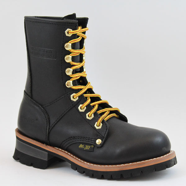 adtec womens black 9in logger leather work boots