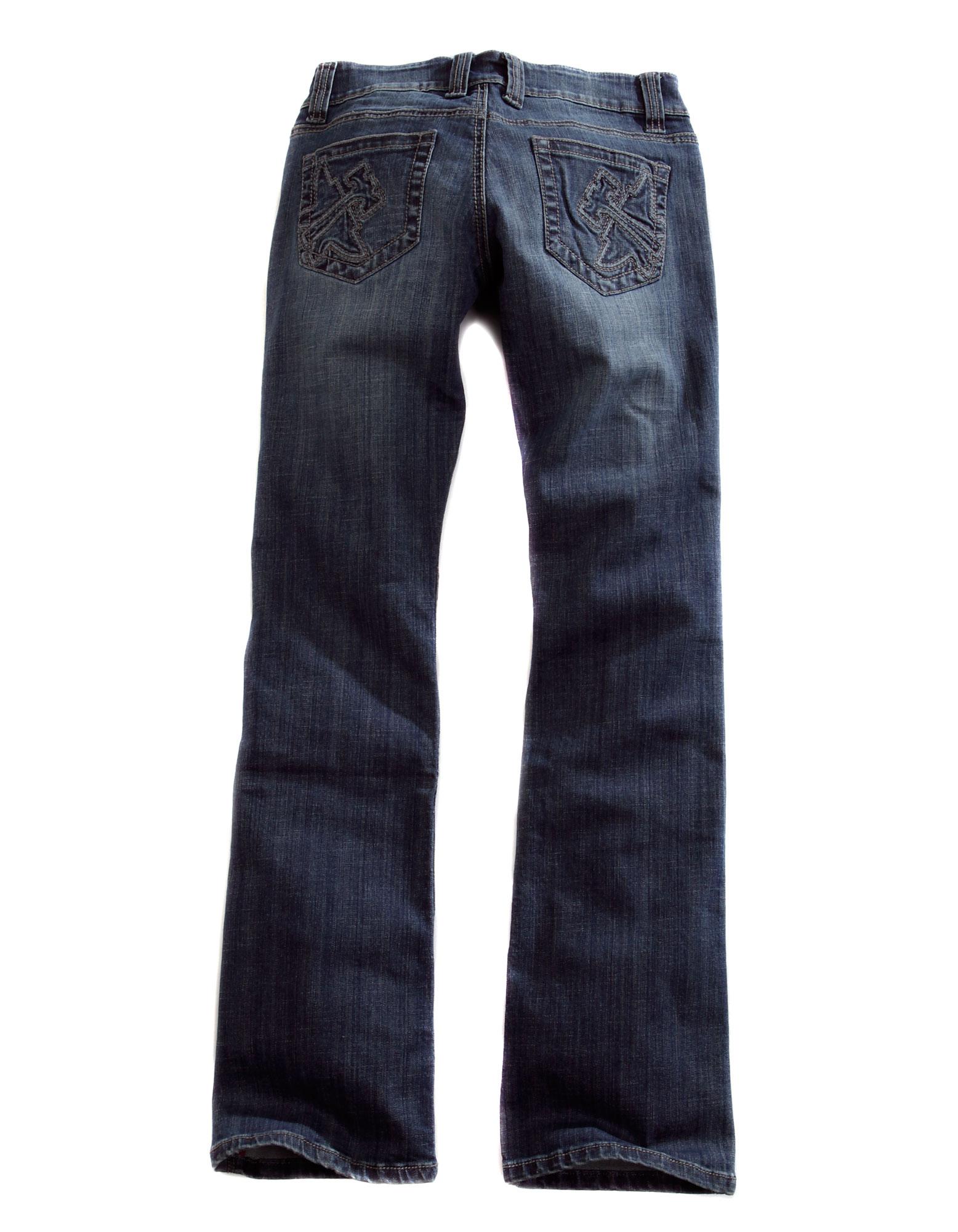 tin haul womens denim blue 100 cotton boot cut dolly