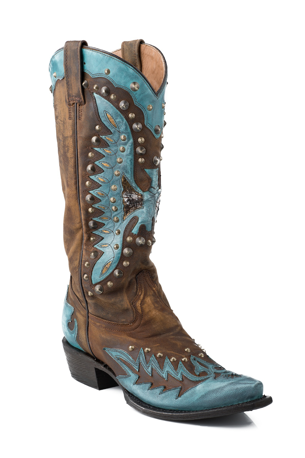 """Stetson Womens 13"""" Mad Dog Eagle Fashion Goat Skin Leather Western Cowboy Boots at Sears.com"""