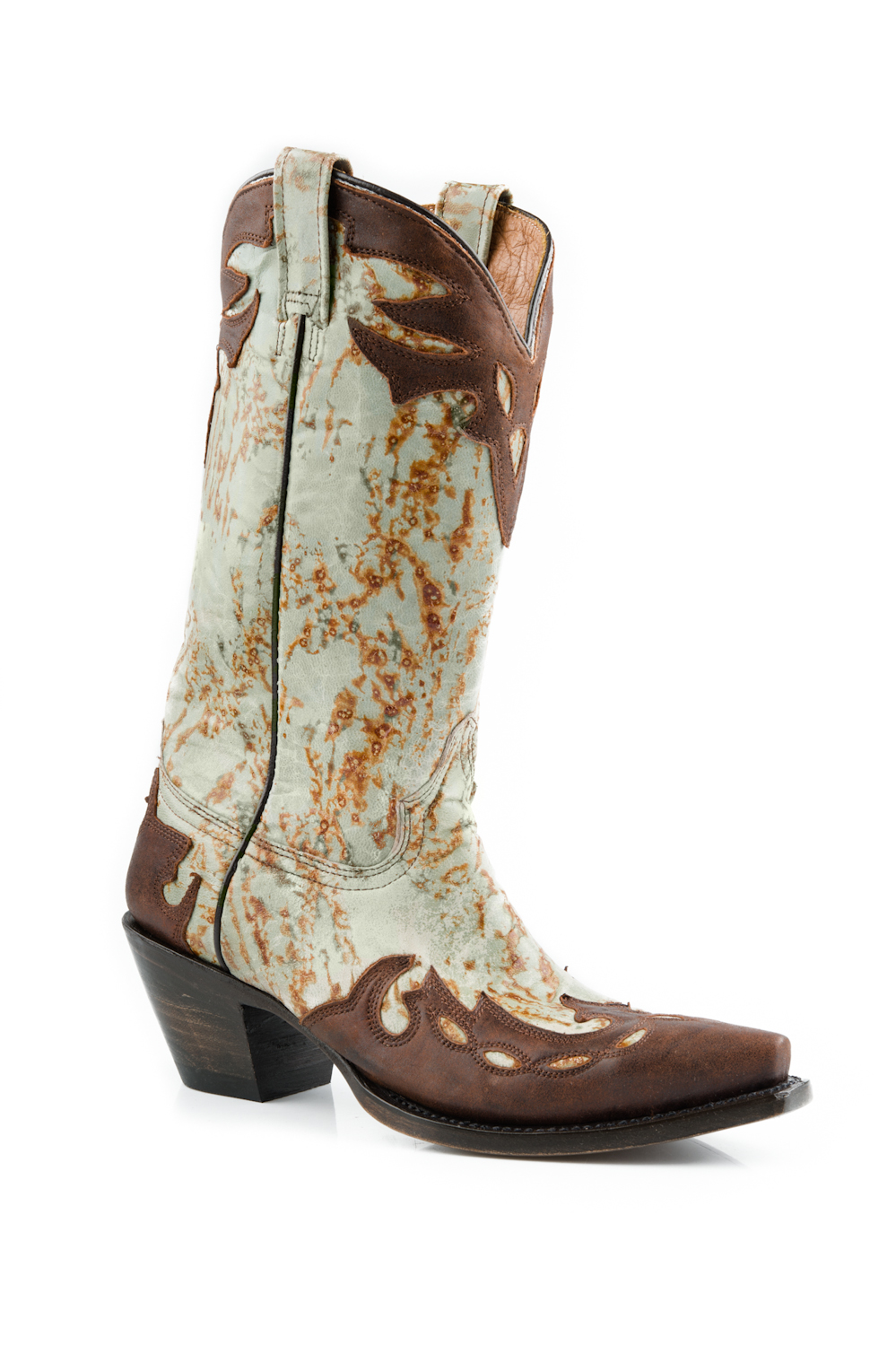 """Stetson Womens 13"""" Overlay Fashion Oiled Leather Western Cowboy Boots at Sears.com"""