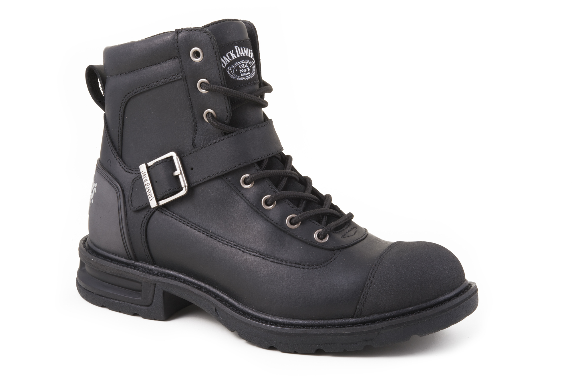 Jack Daniels Mens Motorcycle Biker Buckle Strap Lace Up Leather Boots at Sears.com