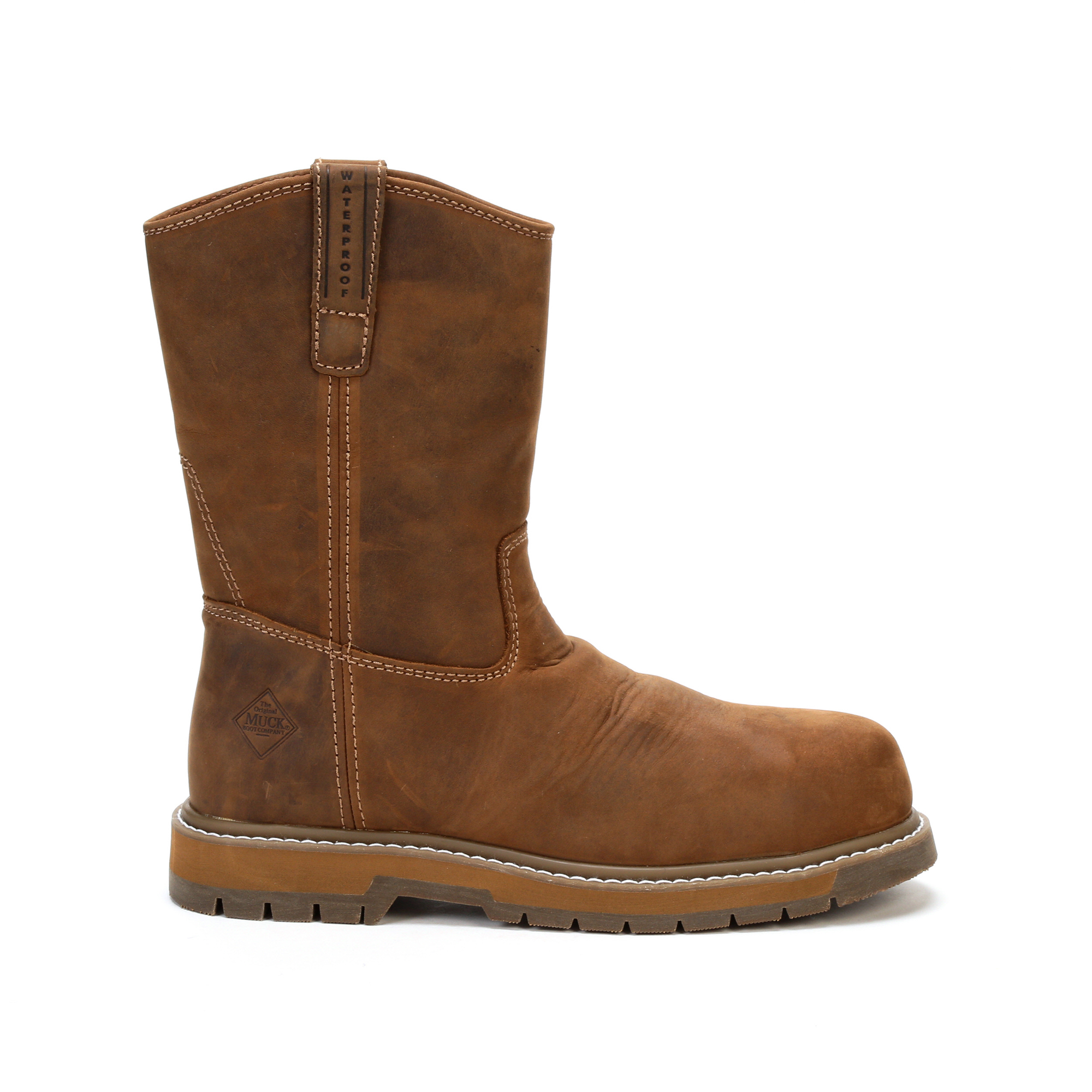 Muck Wellie Classic Comp Toe Mens Wheat Leather Work Boots