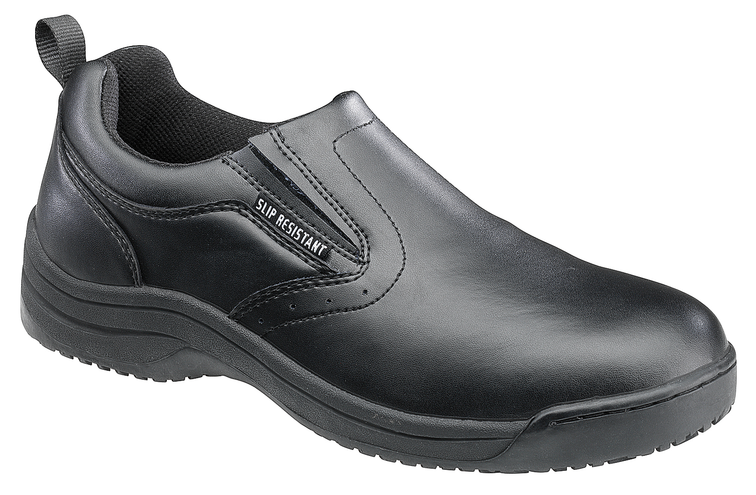 skidbuster mens slip resistant slip on w black leather