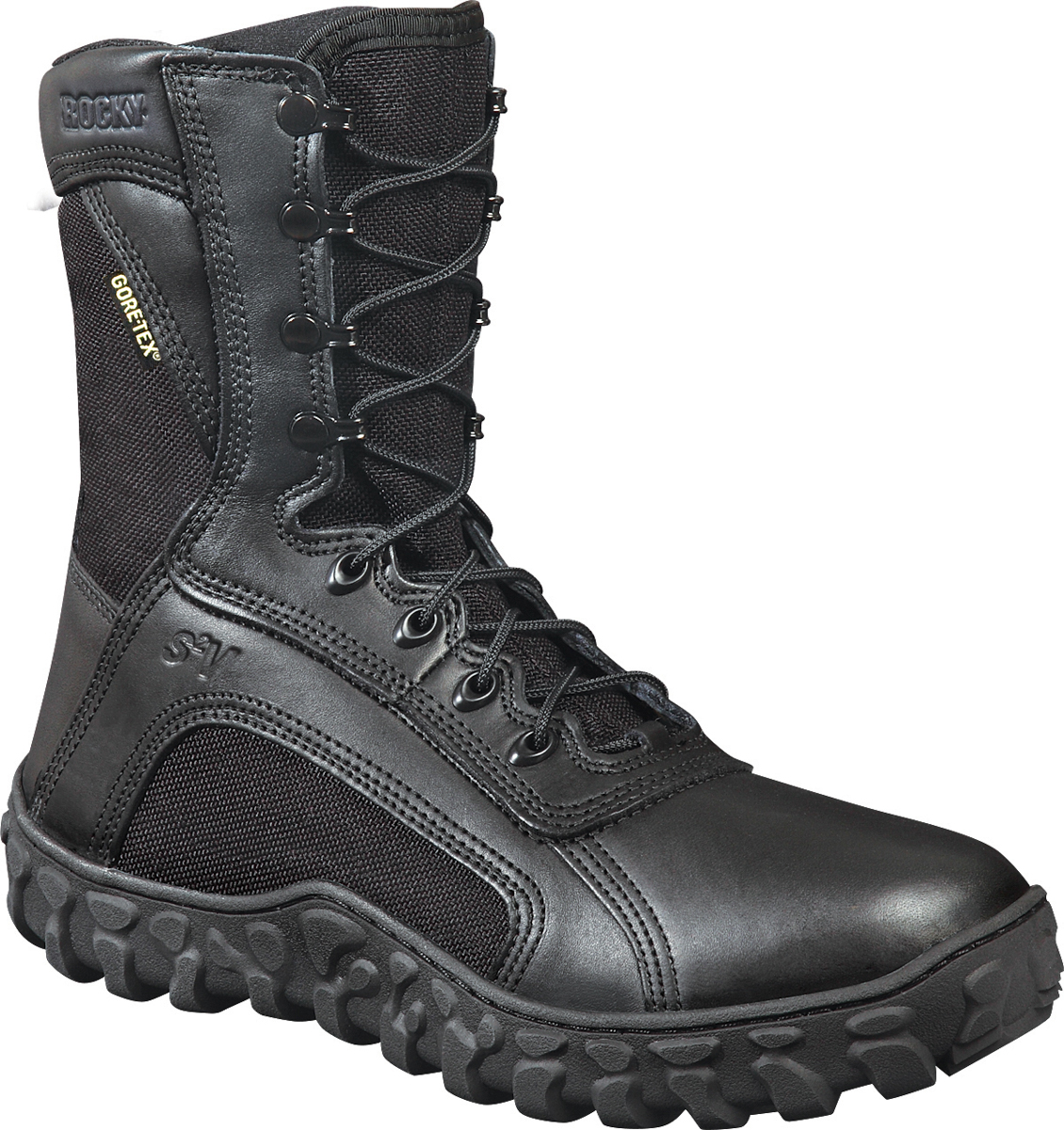 rocky s2v mens black leather goretex waterproof tactical