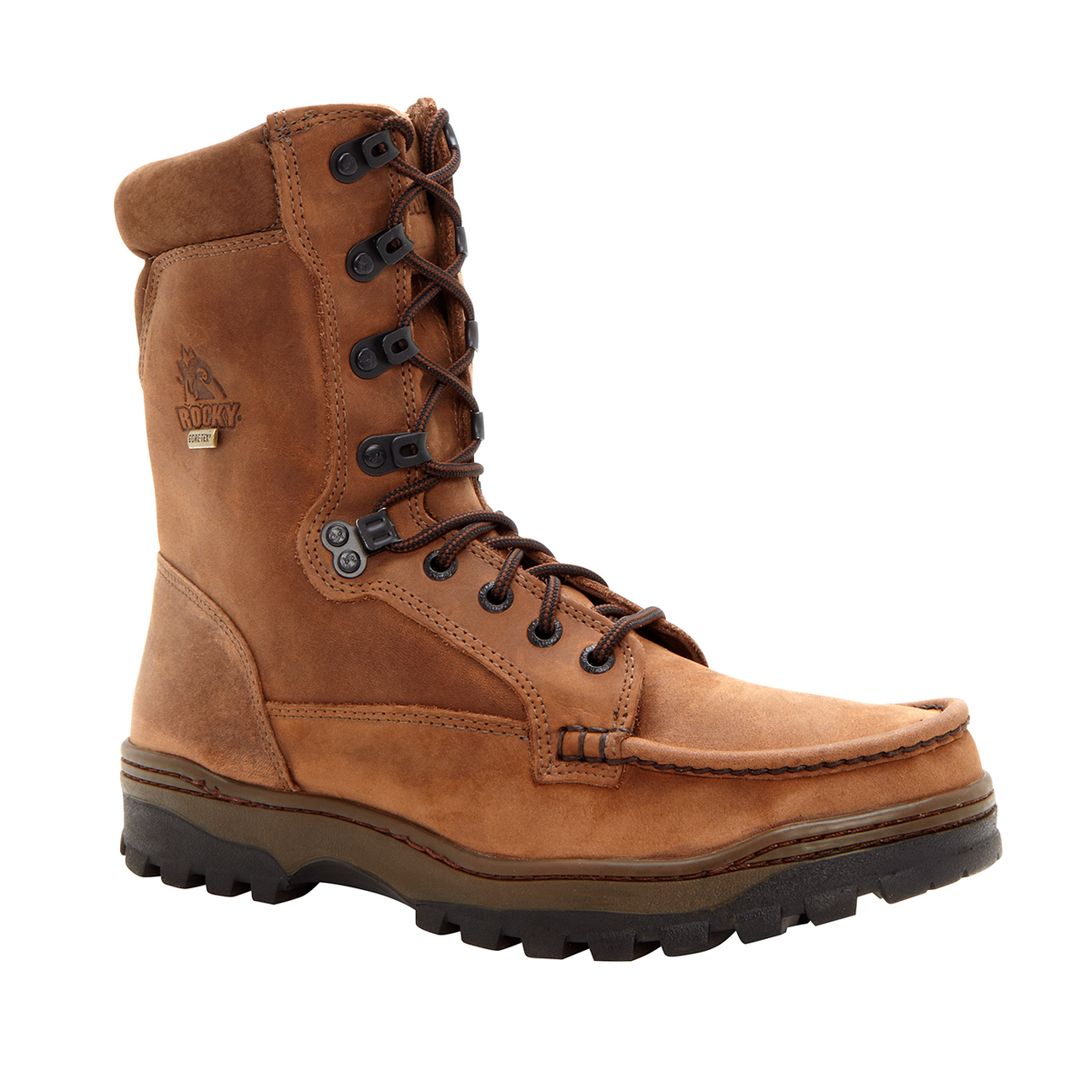 rocky outback mens light brown leather 8in goretex hiking