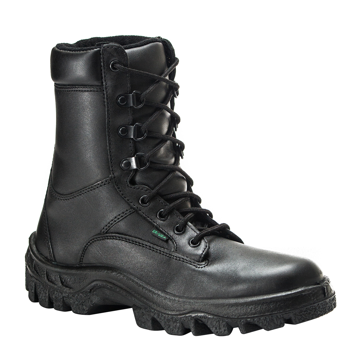 rocky tmc mens black leather waterproof postal approved