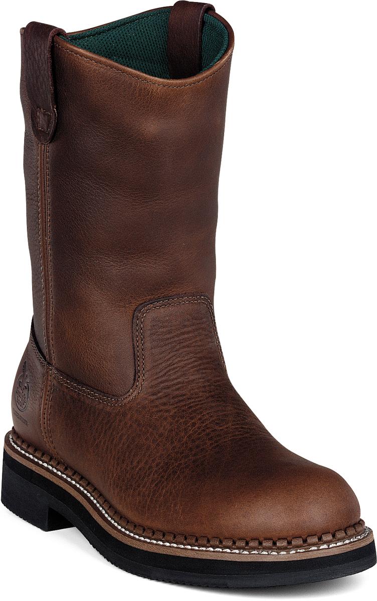 mens brown leather wellington waterproof work