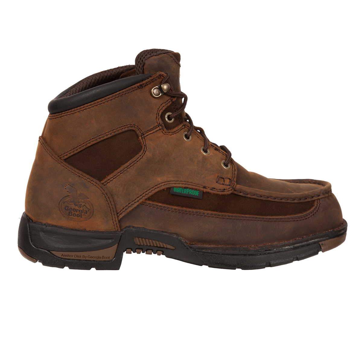 athens mens brown suede leather steel toe