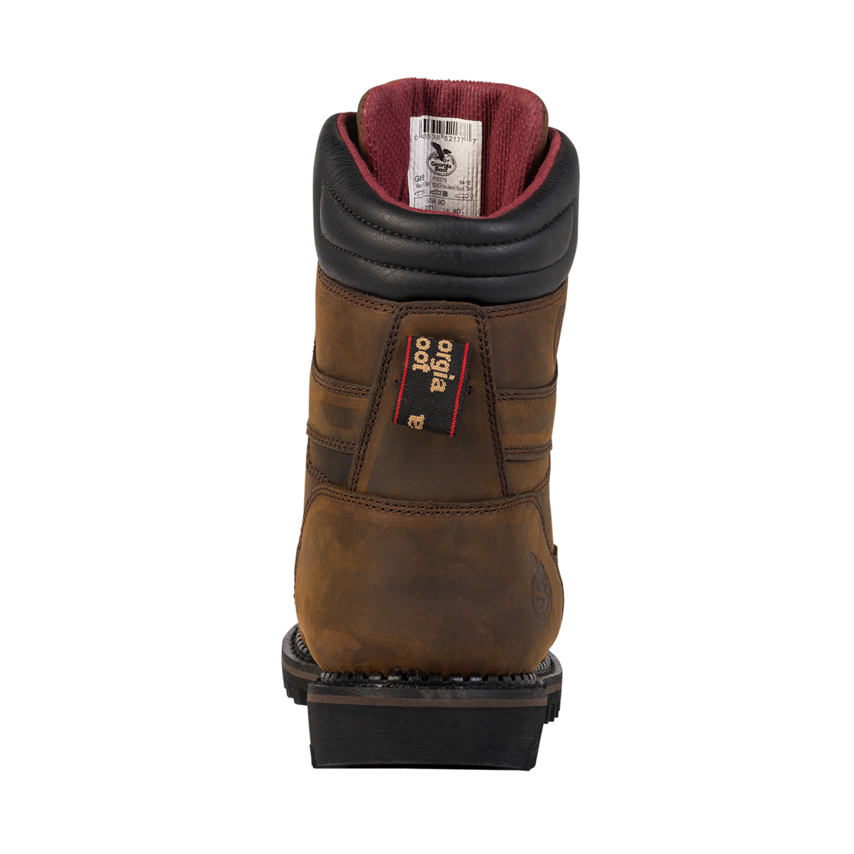 mens brown leather insulated 1000 grams work boots