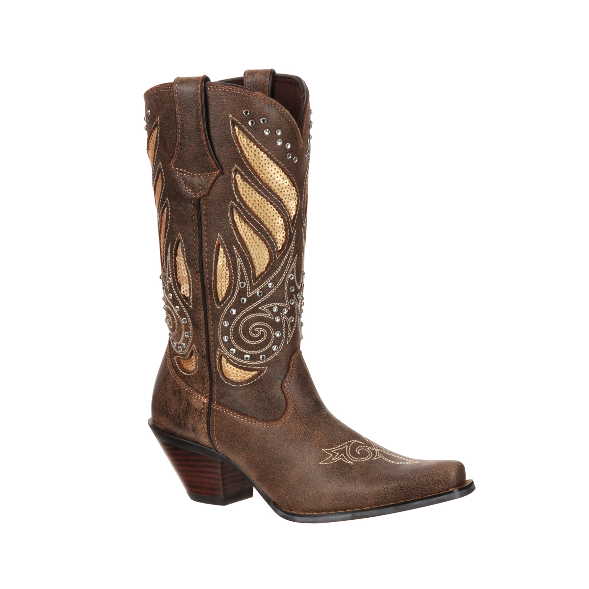 Creative Durango Womens Crush Pointed Toe Cowboy Boots Gunsmoke