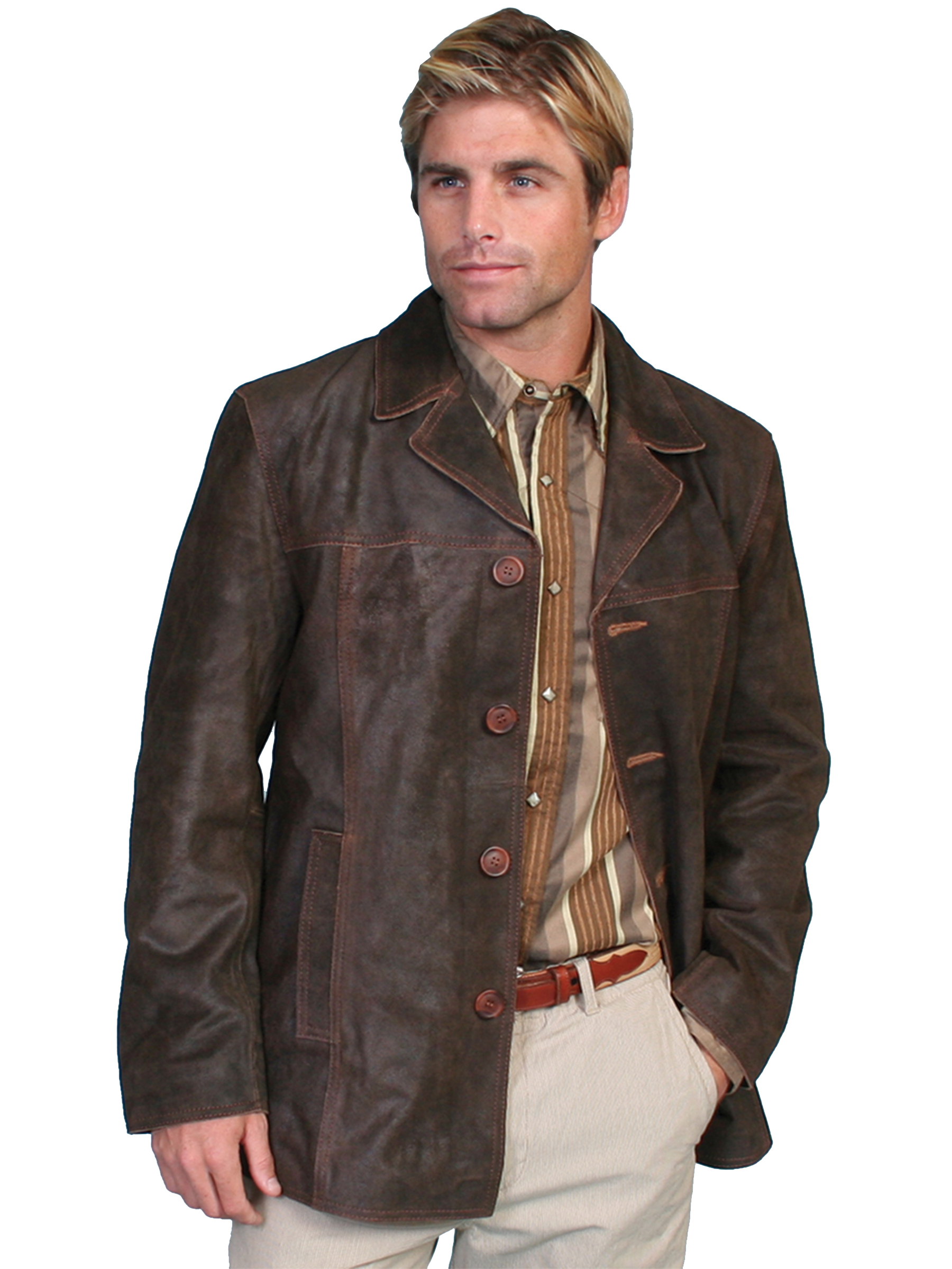 Scully Leather Mens Calf Suede 3/4 Length Car Coat Brown | eBay