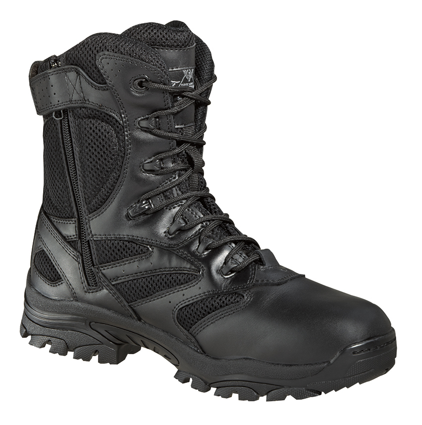 thorogood mens tactical black leather boots 8in waterproof