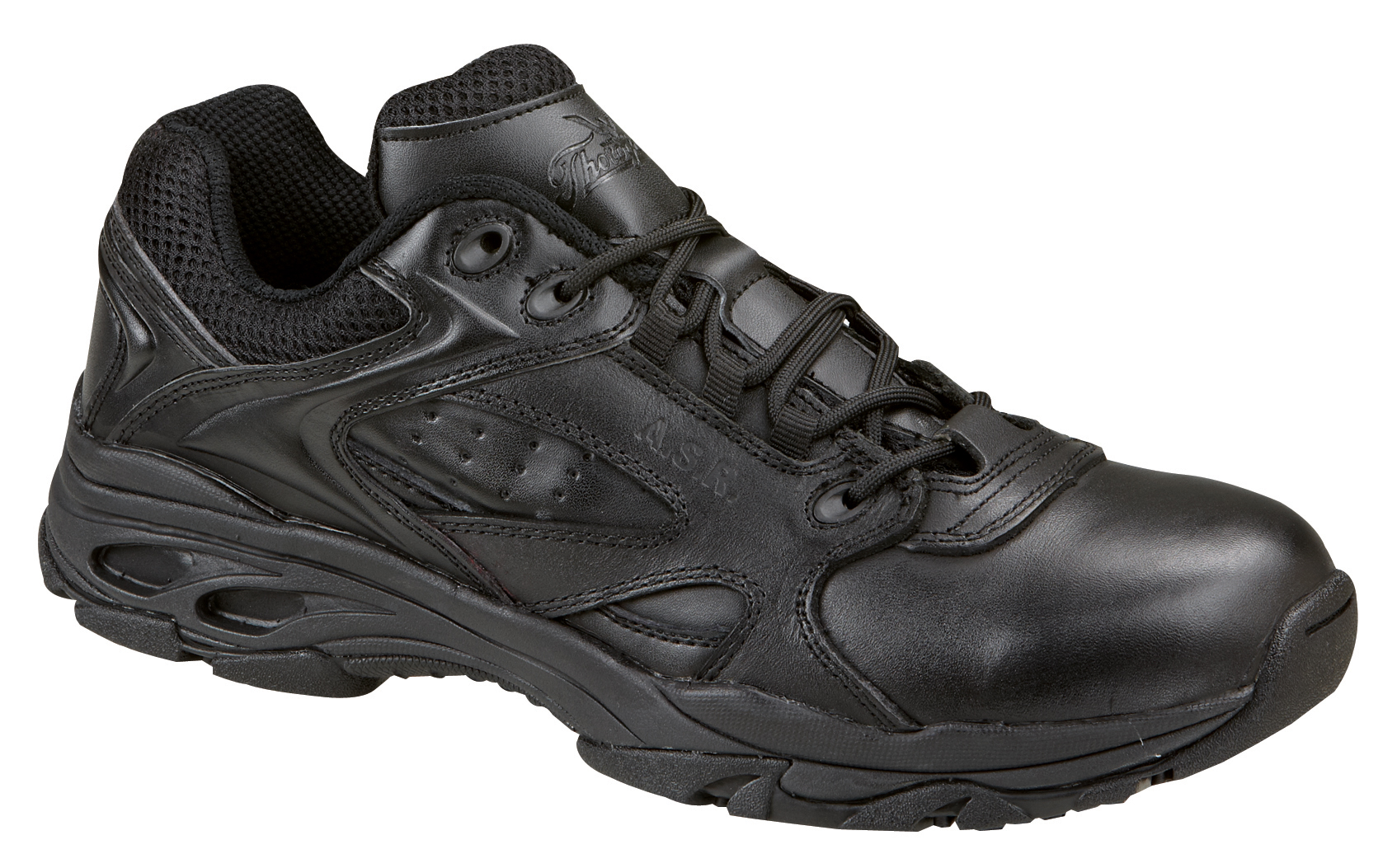 Comfortable, good looking, and safe, these black leather athletic work shoes from New Balance are equipped with a Shoes For Crews slip-resistant outsole. Let these cushioned, water-resistant sneakers carry you through your day. Diabetic approved.