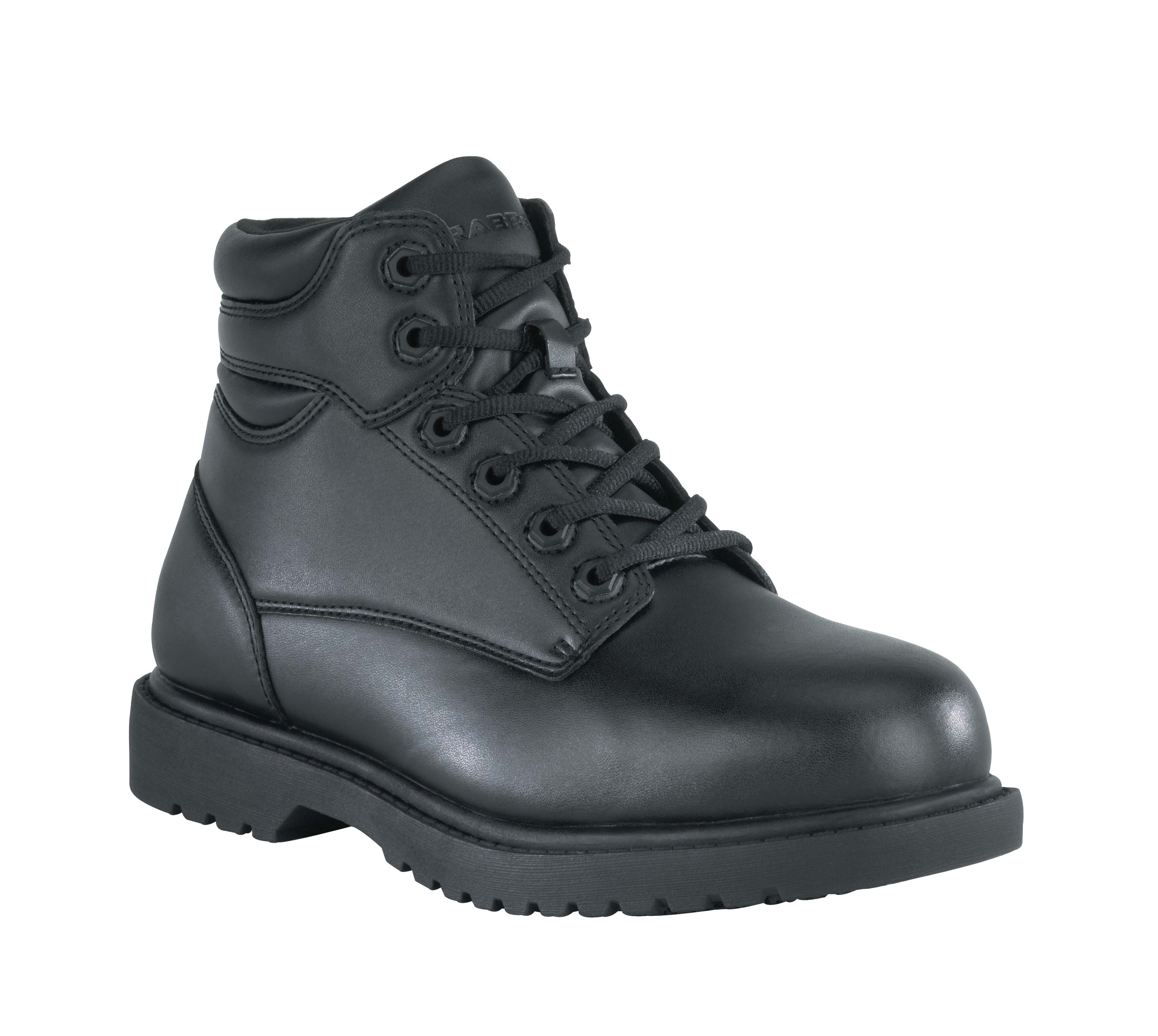 grabbers mens black faux leather 6in sr work boots kilo