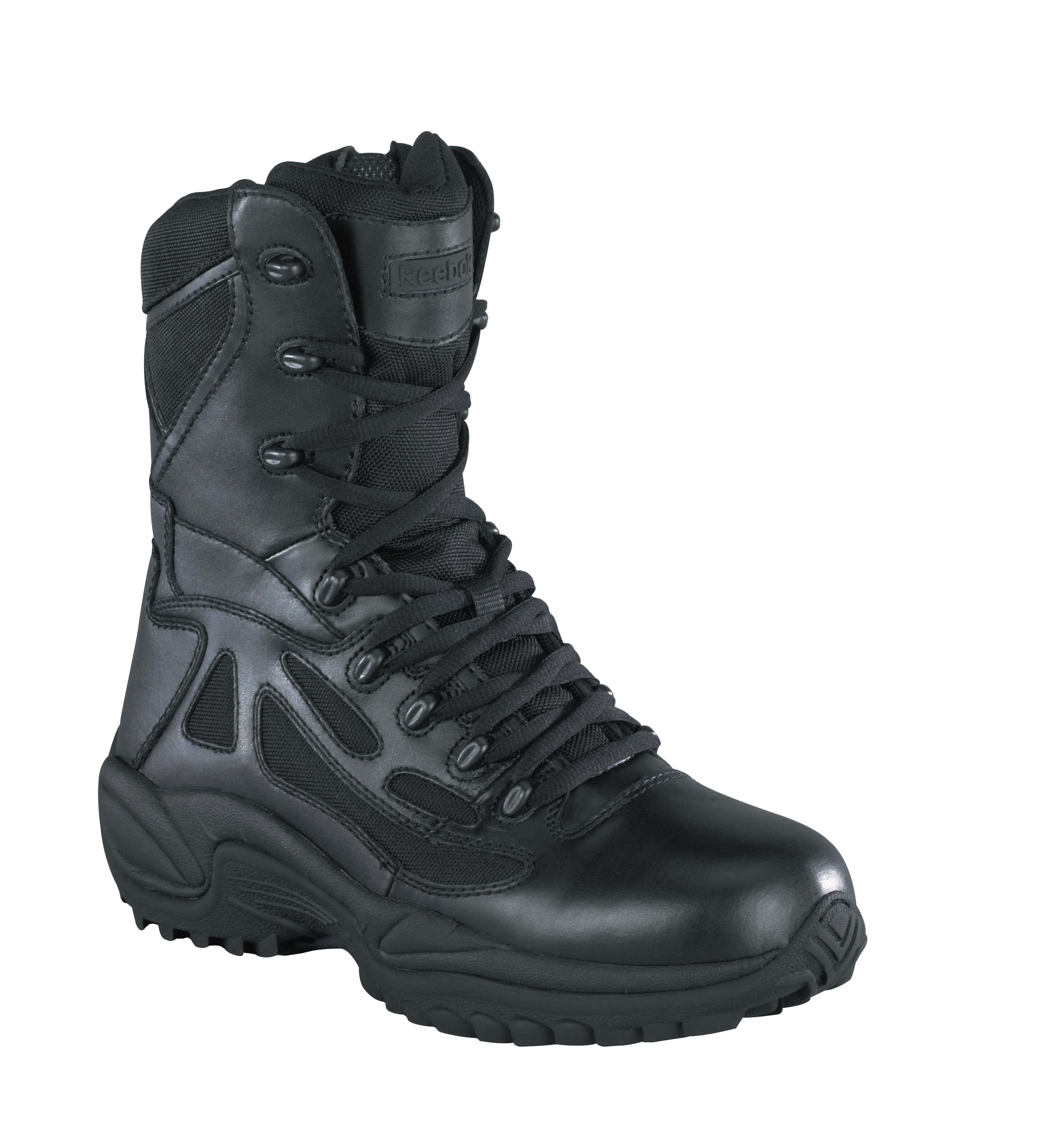 reebok womens black leather tactical boots rapid response