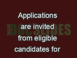 RYHUQPHQWVWULYHVWRKDYHDZRUNIRUFHZKLFKUHIOHFWVJHQGHUEDODQFHDQG ZRPHQFDQGLGDWHVDUHHQFRXUDJHGWRDSSO          Applications are invited from eligible candidates for the following posts in the fo