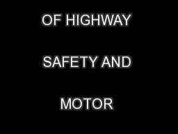 State of FloridaDEPARTMENT OF HIGHWAY SAFETY AND MOTOR VEHICLES ...