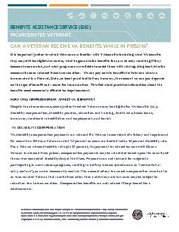 BENEFITS ASSISTANCE SERVICE (BAS)INCARCERATED VETERANS