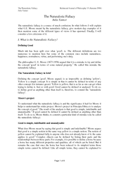 The Naturalistic Fallacy Richmond Journal of Philosophy 13 (Autumn 200