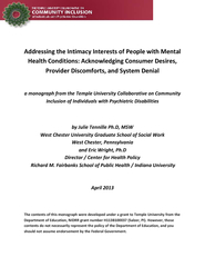 Addressing the Intimacy Interests of People with Mental Health Conditi