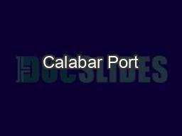 Calabar Port