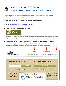 ttle's Stop Junk MailWebsiteGUIDE #How to Submit Your Junk MailPr PowerPoint PPT Presentation