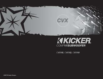 Kicker warrants this product to be free from defects in material and w