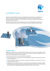 Landed Cost TypesWithin Opera 3 Stock Control it is possible to define