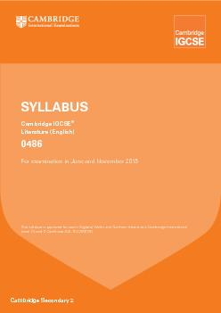 Cambridge Secondary 2This syllabus is approved for use in England, Wal
