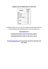 CANDIDATES WHO FULFIL ALL THE FIVE ELIGIBILITY CRITERIA