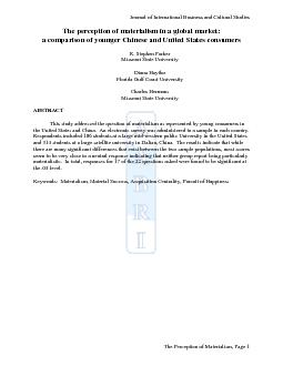 Journal of International Business and Cultural Studies The Perception PDF document - DocSlides