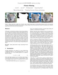 ToappearintheACMSIGGRAPHconferenceproceedingsPoissonMattingJianSunJiay PDF document - DocSlides