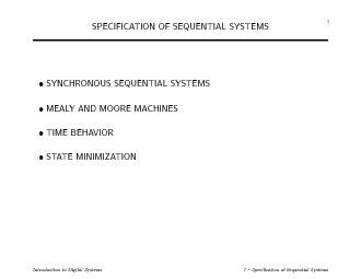 1SPECIFICATIONOFSEQUENTIALSYSTEMSSYNCHRONOUSSEQUENTIALSYSTEMSMEALYAN PDF document - DocSlides