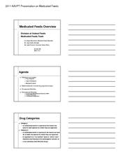 2011 AAVPT Presentation on Medicated Feeds PDF document - DocSlides