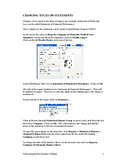 Notes prepared by Suzanne Collings PDF document - DocSlides