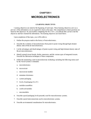 1-1 CHAPTER 1 LEARNING OBJECTIVES Learning objectives are stated at th