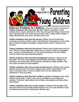 -1-Behavior Problems In Children...Why do children misbehave?Children PowerPoint PPT Presentation