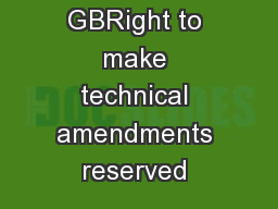 TS 2616-2 GBRight to make technical amendments reserved