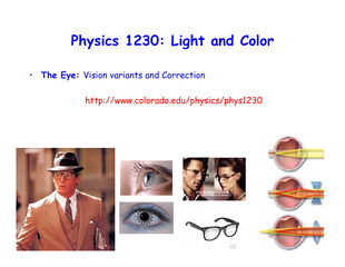 Physics 1230: Light and Color
