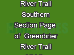 Greenbrier River Trail Southern Section Page  of  Greenbrier River Trail Middle