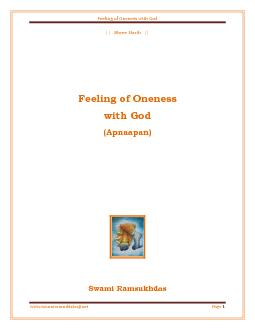 Feeling of Oneness with God