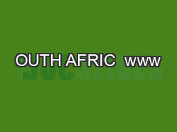 OUTH AFRIC  www
