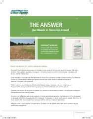 of weeds on roadsides and unimproved noncrop sites. Whether you need
