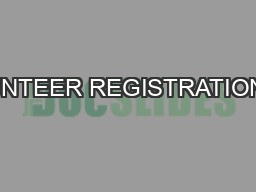 VOLUNTEER REGISTRATION1985–2015web: www.outriders.orgFill out the
