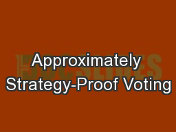 Approximately Strategy-Proof Voting