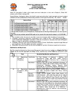 INDIAN OIL CORPORATION LIMITED Refineries Division GUJARAT REFINERY A Govt