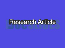 Research Article