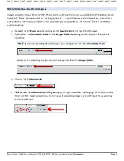 Overwriting Documents or Images