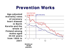 Public Health Medicine   Successful prevention of noncommunicable diseases  year experiences with North Karelia Project in Finland Pekka Puska Abstracts The paper describes the experiences and results