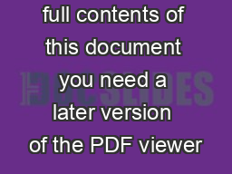 To view the full contents of this document you need a later version of the PDF viewer